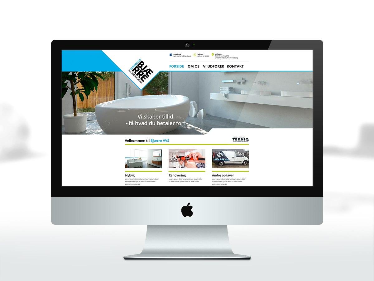 Bjerre VVS, webdesign