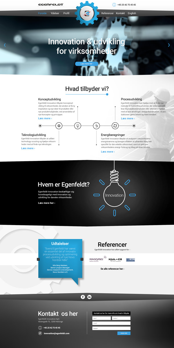 Egenfeldt Innovation webdesign